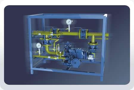 Газорегуляторные установки* ГРУ-03М-У1 с одной линией редуцирования и байпасом